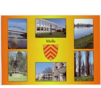 Postkaart met wapenschild van Melle
