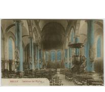 MELLE Intérieur de l' Eglise