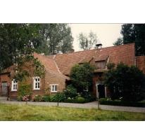 Hof te Bussegem, straatgevel, Sint-Lievens-Houtem, Vlierzele, 1990