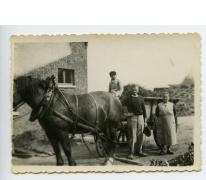 Met paard en kar onderweg, Gijzenzele, 1936