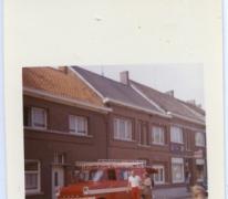 Brandweerwagen tijdens de Bacchus stoet, Sint-Lievens-Houtem, 1970-1980