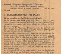 Viering 100 jaar St.Lievens-Instituut, Sint-Lievens-Houtem, 1980