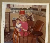 Op de schoot in het café, Melle, 1960-1980