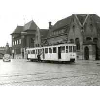 Tram van de lijn Gent-Geraardsbergen,  Gent, 1946.