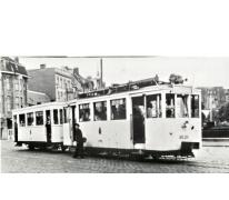 Tram van de lijn Gent-Geraardsbergen, Gent, ca. 1950.