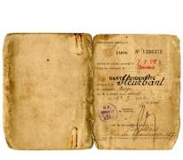 Tijdelijke identiteitskaart, Boussois, 1922