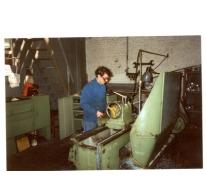 In de werkplaats, Gentbrugge, 1991