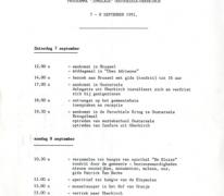 Feestprogramma, Oosterzele, 1991