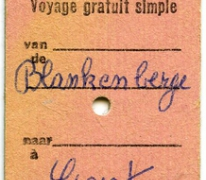Ticket naar Gent, Blankenberge, 1975