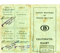 Legitimatiekaart, Gent, 1944