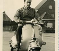 Plezierrit met de scooter, Merelbeke, 1955-1965