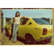 In de zon bij de wagen, Letterhoutem, 1970-1980