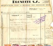 Factuur, Brussel, 1948