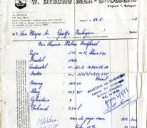 Factuur, Balegem, 1968