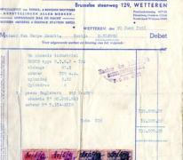 Factuur, Wetteren, 1951