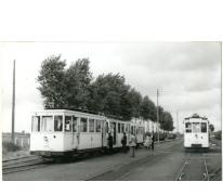 Tram van de lijn Gent-Geraardsbergen, Sint-Lievens-Houtem,1953.