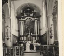 Interieur Sint-Fledericuskerk, Vlierzele, 1962