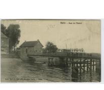 Brug over de Schelde te Melle in 1906