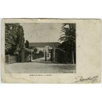 Ingang tot het hoofdgebouw in 1908 College Melle