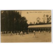 Speelplaats van de hogere afdeling in 1929 College Melle