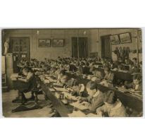 Studiezaal van de middelbare afdeling in 1924 College Melle