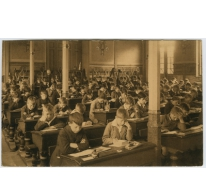 Studiezaal van de lagere afdeling in 1932 College Melle