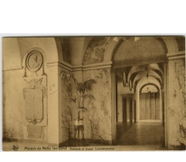 Vestibule en herinneringsplaat van het College te Melle in 1935