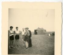 Chiro Melle, overleg op kamp, Bioul,1959
