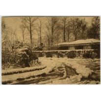 Ingang tot het College te Melle onder de sneeuw in 1934