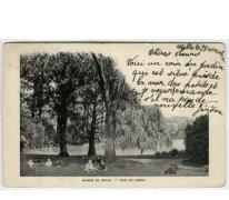 Een hoekje van de tuin van het College Te Melle in 1901