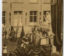 Inwijding van het beeld en openluchtmis in het College te Melle