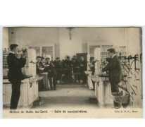 Scheikundelokaal, college Melle, 1903