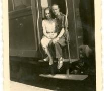 Samen in de wagon, Merelbeke, 1940-1950