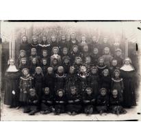 Schoolfoto, Sint-Lievens-Houtem, Letterhoutem, 1905
