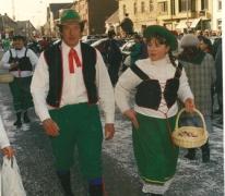 Wagens Bruisbekevrienden, Bacchusstoet, Sint-Lievens-Houtem, 1996