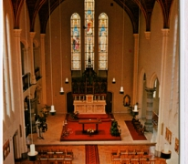 Interieur van de kapel, Caritasinstituut, Melle