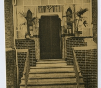 Hoofdingang, Pensionaat, Sint Franciscus, Melle Vogelhoek, 1909