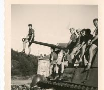 Chiro Melle, op de loop van een tank, Bastogne, 1962