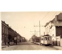 Tram van de lijn Melle-Gentbrugge, Melle, 1938.