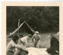 Chiro melle, routeplanning, Frahan, Ardennen, 1962