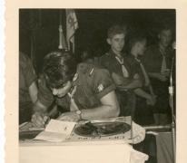 Chiro Melle, ondertekening van de belofte, Melle, 1961