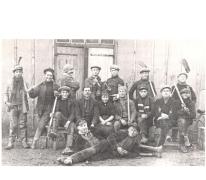 Groepsfoto seizoenarbeiders, Longeuil, 1923