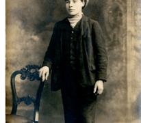 Portret van een man tijdens Eerste Wereldoorlog, details onbekend