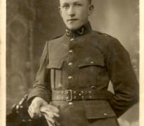 Portret van een soldaat tijdens Eerste Wereldoorlog, details onbekend
