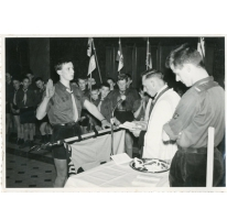 Chiro Melle, ontvangst van de witte leiderskoord, Melle, 1961
