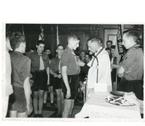 Chiro Melle, leidingsteken opgespeld, Melle, 1961