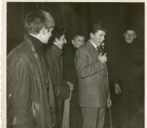 Chiro Melle, interview met The Beatles tijdens groepsfeest, 1963