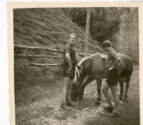 Chiro Melle, met paard, Bach, Oostenrijk, 1964