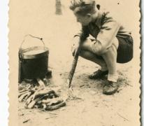 Chiro Melle, koken op houtvuur, 1943- 1947