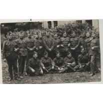 Groepsfoto soldaten na Eerste Wereldoorlog, 1919-1920